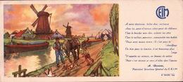 Ancien BUVARD Illustré  C.E.I.M  Moulins De HOLLANDE - Buvards, Protège-cahiers Illustrés