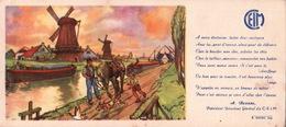 Ancien BUVARD Illustré  C.E.I.M  Moulins De HOLLANDE - Vloeipapier
