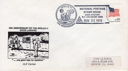 UNITED STATES  -  1979 10TH ANN. MOON LANDING  ASDA  STATION  FDC6347 - Covers & Documents