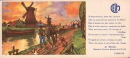 Ancien BUVARD Illustré  C.E.I.M  Moulins De HOLLANDE - C