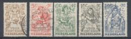 Nederland/Netherlands/Pays Bas/Niederlande/Paesi Bassi 1949 Mi: 546-550 Yt: 530-534 Nvph: 544-548 (Gebr/used/obl/o)4333) - 1949-1980 (Juliana)