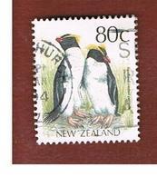 NUOVA ZELANDA (NEW ZEALAND) - SG 1467 -  1988 NATIVE BIRDS: FIORDLND CRESTED PENGUIN  -  USED° - Nuova Zelanda