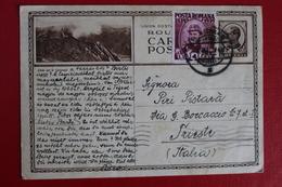 1940 -  ENTIER  POSTAL  DE  6 LEI  AVEC  1  TIMBRE  COMPLEMENT  DE  BUCAREST  POUR  TRIESTE  EN  ITALIE - 1918-1948 Ferdinand I., Charles II & Michel