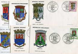 Repoblika Malagasy Madagascar = LOT De + 120 Enveloppes FDC 1er Jour PORT FRANCE GRATUIT - Madagascar (1960-...)