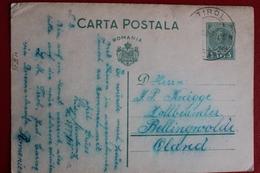 1938 -  ENTIER  POSTAL  DE  3 LEI    DE      TIROL  POUR  BELLINGWOLDE  EN  HOLLANDE - 1918-1948 Ferdinand I., Charles II & Michel