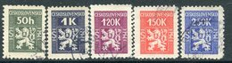 Y85 Czechoslovakia 1945 D.1-5 Official Stamps - Coat Of Arms. Heraldry - Timbres