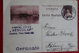 1932   -    ENTIER  POSTAL  DE  6   LEI    DE   CERNAUTI   POUR   ALLEMAGNE - 1918-1948 Ferdinand I., Charles II & Michel