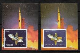 #A32A# SHARJAH MICHEL BL 112A+B MNH**, SPACE. - Sharjah