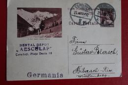 1934   -    ENTIER  POSTAL  DE  6   LEI    DE   CERNAUTI   POUR   ALLEMAGNE - 1918-1948 Ferdinand I., Charles II & Michel
