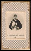 """Beato Cristoforo Da Milano / Nel 1460 Fondò Il Convento Di Taggia (Imperia) - (anni Quaranta) - """"Riproduzione"""" - Santini"""