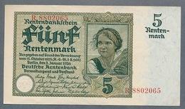 Pick169 5 Rentenmark 1926 AUNC - - 5 Rentenmark