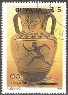 Guyana - 1987 - Athlète Grec – Course - YT 1769FC Oblitéré - Guyane (1966-...)