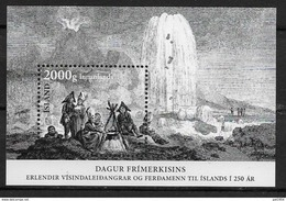 Islande 2017, Bloc F1464 Neuf Journée Du Timbre, Expéditions Scientifiques Et Tourisme - Blocks & Kleinbögen