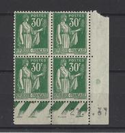 FRANCE  YT  Coins Datés  N° 280  Neuf **  1937 - Coins Datés