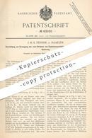 Original Patent - J. M. K. Pennink , Haarlem , 1894 , Erzeugung Von Strom Von Explosionsprodukten | Gasmotor | Gas Motor - Historische Dokumente