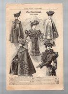 Catalogue Vêtements Et Divers PARIS FRANCE  Sans Date (fin XIXe Début XXe) (CAT 1356) - Reclame