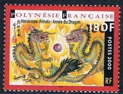 Polynésie Française - Horosope Chinois : Année Du Dragon 612 (année 2000) ** - Neufs