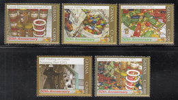 2007 Ghana Cocoa Cacao Chocolate   Complete Set Of 5 MNH - Ghana (1957-...)