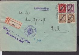 Einschreibbrief Steinbach Nach Schwäbisch Hall 1927 - Allemagne