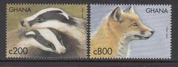 1999 Ghana Badger Fox  Complete Set Of 2 MNH - Ghana (1957-...)