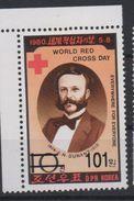 North Korea 2006 OVERPRINT Croix Rouge World Red Cross Day Henri Henry Dunant Rotes Kreuz MNH** RARE - Henry Dunant
