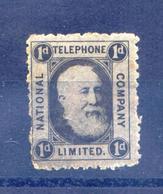 X877– UK-Cinderella-Graham Bell-National Telephone Company Stamp-1d. - Erinnophilie