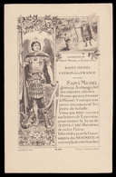 San Michele Arcangelo Patrono Di Francia - (Francia - Primi '900) - Santini