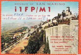 Nw6003 SAN MARINO Prima Torre Carte QSL RADIO Opr MORETTI FRANCO Via MAZZINI Ferrara-Photo MARZARI - Saint-Marin