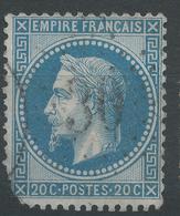 Lot N°47189  N°29B, Oblit étoie Chiffrée 30 De PARIS (Bt Mazas) - 1863-1870 Napoleon III With Laurels