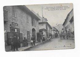 CPA 73 Saint Jeoire Prieuré La Grande Rue La Poste Port Simple Gratuit - France