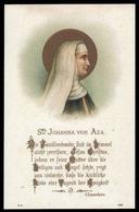"""Beata Giovanna D' Aza / Madre Di San Domenico - (Parigi - Fine Ottocento) """"Riproduzione"""" - Santini"""