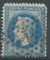 Lot N°47193  N°29B, Oblit étoie Chiffrée 1 De PARIS (Pl De La Bourse) - 1863-1870 Napoleon III With Laurels