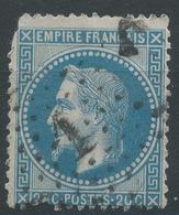 Lot N°47194  N°29B, Oblit étoie Chiffrée 1 De PARIS (Pl De La Bourse) - 1863-1870 Napoleon III With Laurels