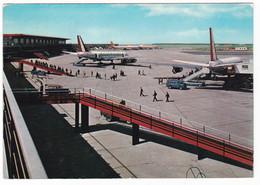AEROPORTO - AIRPORT - ROMA FIUMICINO - VIAGGIATA 1962 - Aérodromes
