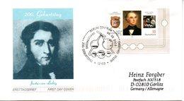 """BRD Schmuck-FDC """"200. Geburtstag Justus Von Liebig"""", Mi. 2337  ESSt 10.4.2003 BERLIN ZENTRUM - [7] République Fédérale"""