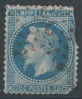 Lot N°47195  Variété/n°29A, Oblit étoile Chiffrée 29 De PARIS (R. Pascal), étoile ROUGE ???????? - 1863-1870 Napoleon III With Laurels