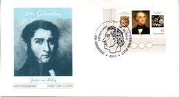 """BRD Schmuck-FDC """"200. Geburtstag Justus Von Liebig"""", Mi. 2337  ESSt 10.4.2003 BONN - FDC: Covers"""