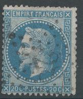 Lot N°47197  N°29B, Oblit étoile Chiffrée 28 De PARIS (R. Cardinal-Lemoine) - 1863-1870 Napoleon III With Laurels
