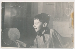 TABLE TENNIS, Boy Play Table Tennis Ping-pong,  TENNIS DE TABLE, Garcon,  Old Photo Original - Sports
