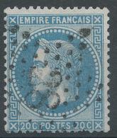 Lot N°47198  N°29A, Oblit étoile Chiffrée 28 De PARIS (R. Cardinal-Lemoine) - 1863-1870 Napoleon III With Laurels