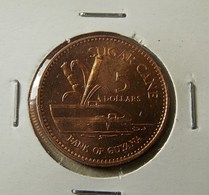 Guyana 5 Dollars 1996 Varnished - Guyana