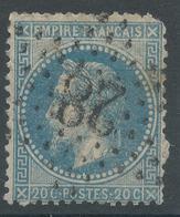 Lot N°47200  N°29B, Oblit étoile Chiffrée 28 De PARIS (R. Cardinal-Lemoine) - 1863-1870 Napoleon III With Laurels