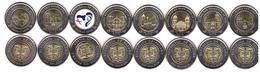 Panama - Set 8 Coins 1 Balboa 2018 / 2019 UNC Comm. Lemberg-Zp - Panama