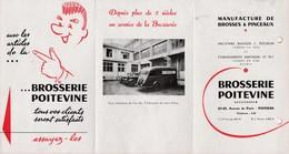 Dépliant Publicitaire / Ets MARTINEAU / Brosserie Poitevine / Brosses / 86 Poitiers - 1900 – 1949