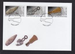 10.- LIECHTENSTEIN 2016 FDC ARCHAEOLOGICAL FINDS IN LIECHTENSTEIN UTENSILS - Arqueología