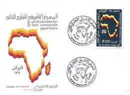 Algeria 1976 FDC African Trade, Map - Algérie (1962-...)