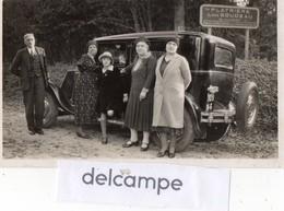 Photo Ancienne -  Voiture Ancienne Devant Un Panneau  PLATRIERE  Louis GOUDEAU - Cars