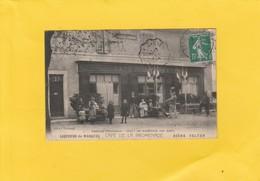 CPA 84 SAULT CAFE DE LA PROMENADE BELLE DEVANTURE ANIMEE   BIERE VELTEN - France