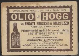 SEGNALIBRO FORMATO 10X7 - OLIO DI HOGG - ORIGINALE ANNI '20/'30 - Pubblicitari
