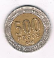 500 PESOS 2003 CHILI /2613/ - Chile
